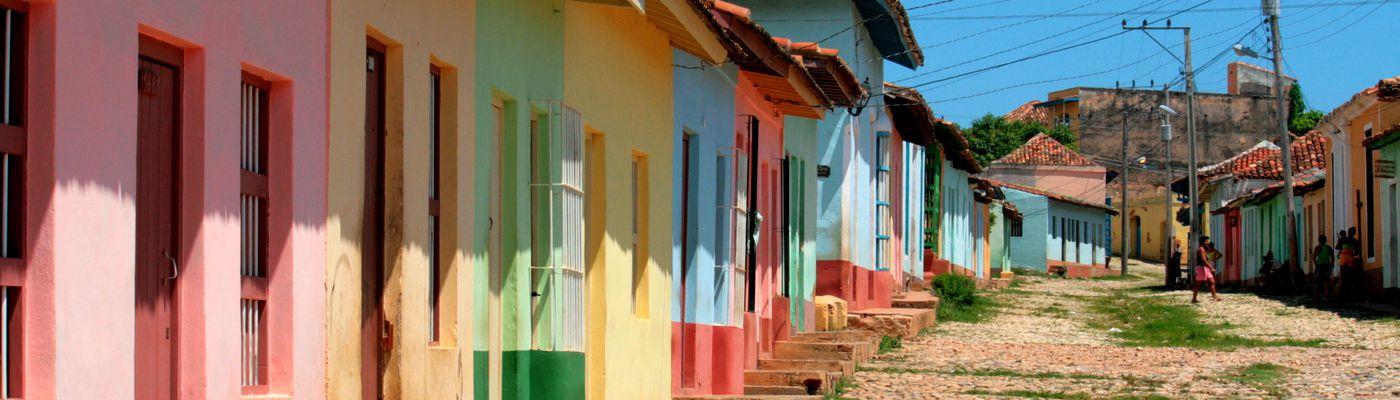 Kuba Trinidad Bunte Häuser