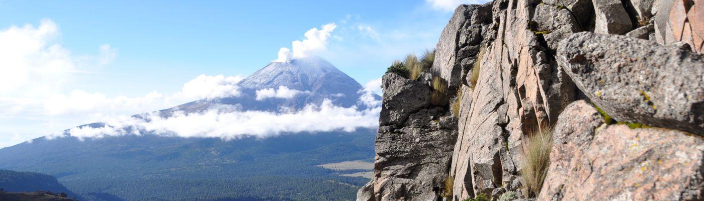 Mexiko Iztaccihuatl Aussicht auf den popocatépetl
