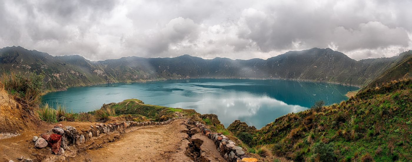 ecuador kratersee quilotoa panorama