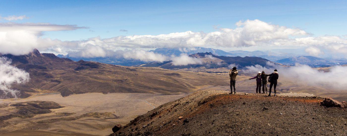 Vulkan Gipfelbesteigung Ecuador