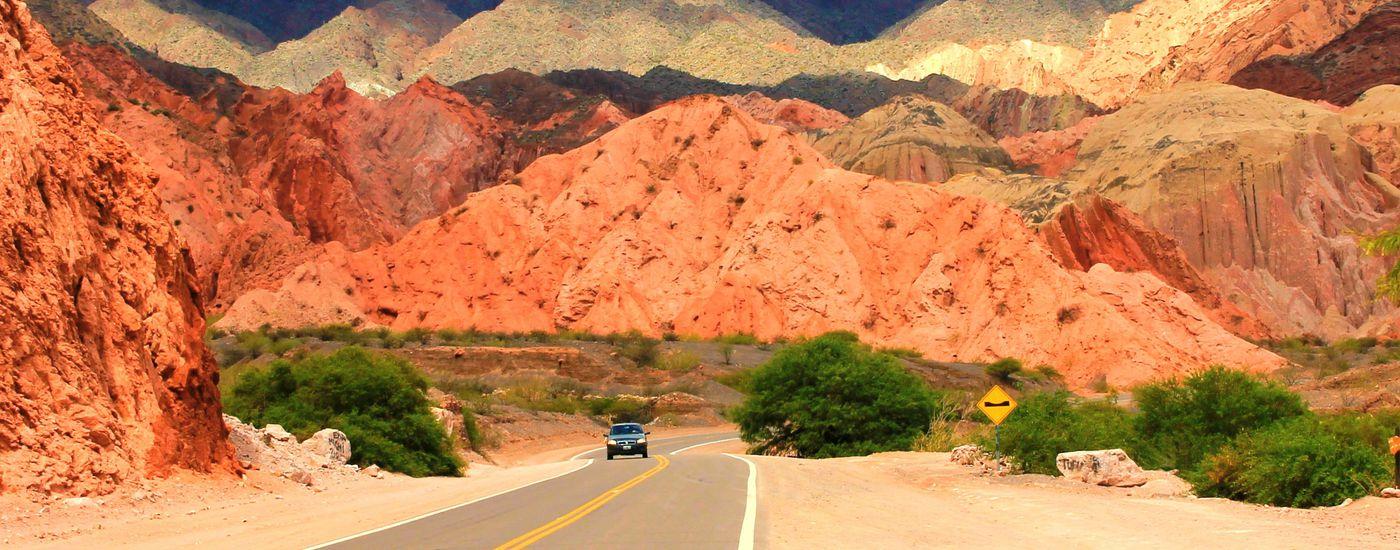 Argentinien Weg Salta nach cafayate zugeschnitten