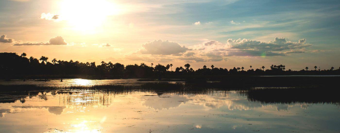 Brasilien Amazonas Sonnenuntergang Aromabild