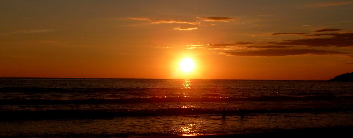 Mexiko Puerto Escondido Sonnenuntergang