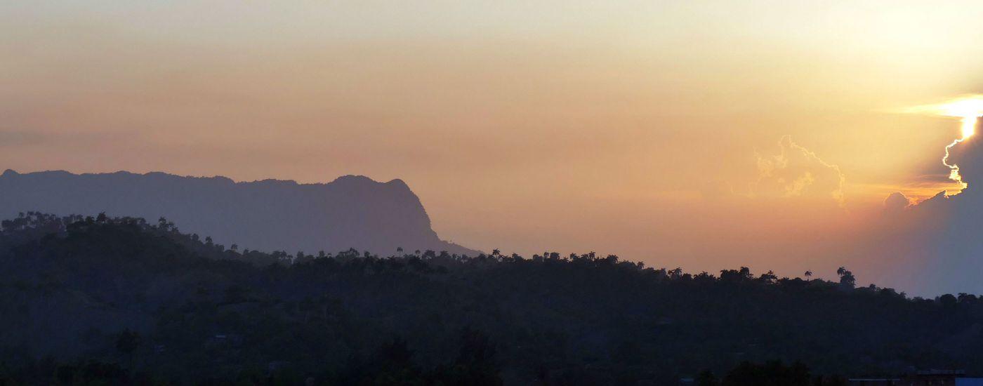 Kuba Baracoa El Yunque Sonnenuntergang Aromabild