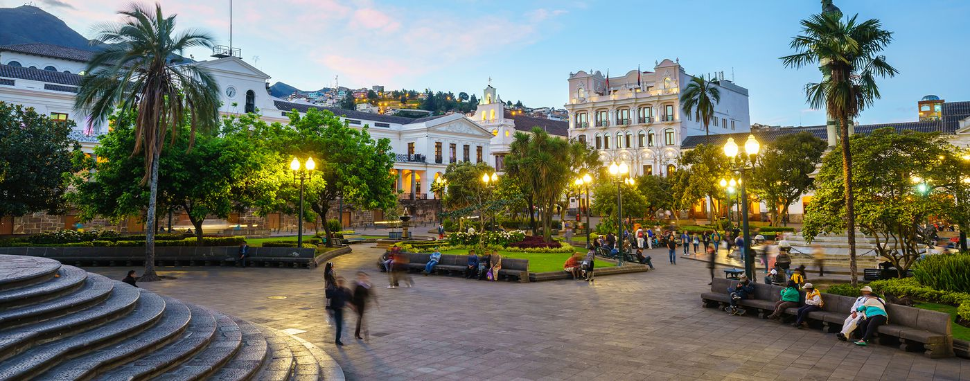 Ecuador Quito Altstadt Plaza Grande