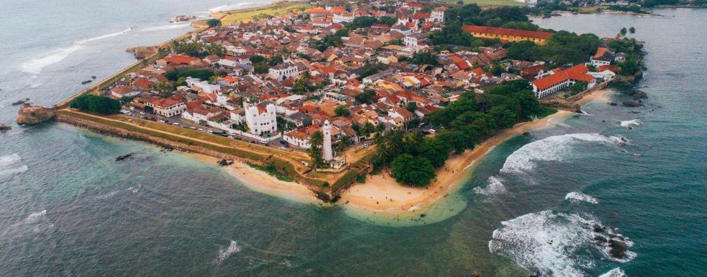 Sri Lanka Galle Niederlaendische Festung Rundgang Urlaub