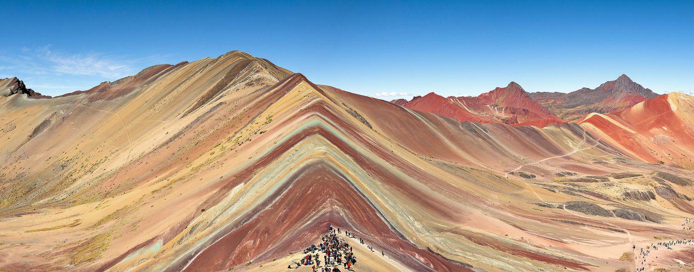 Wandern Anden Rainbow Mountain Vinicunca