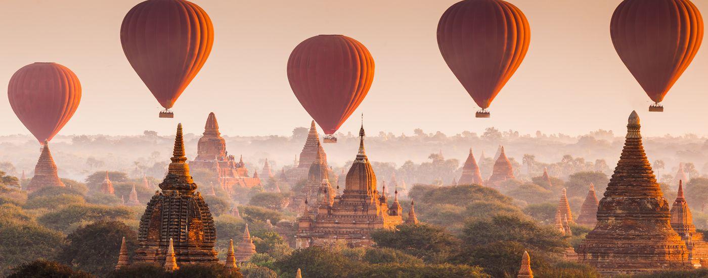 Myanmar Bagan Ballonfahrt Header