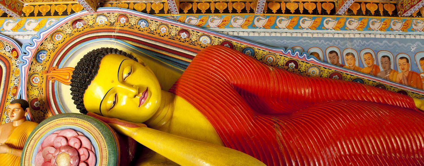 Sri Lanka isurumuniya Tempel Anuradhapura Buddha Header