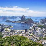 Brasilien Rio de Janeiro Stadt von oben