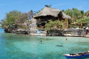 Kolumbien Islas Rosario Islas Pirata Luftansicht