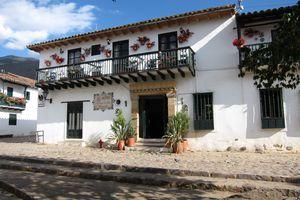 Kolumbien villa de leyva kolonialgebaeude