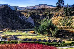 Aussicht über den Colca Canyon in Peru