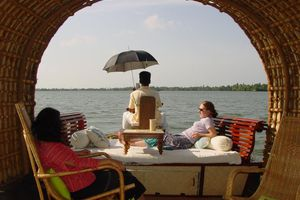 Indien Kerala Backwaters Hausboot fahren