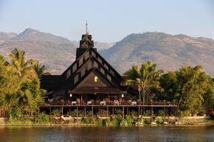 Myanmar Inle See Fischer Dorf Netze Intha Einbein Rudern Erlebnis