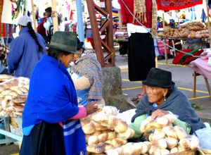 ecuador indianermarkt saquisilis