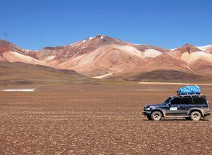 Bolivien Salzwueste Dali Gebirge