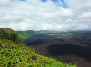 ecuador galapagos sierra negra volcano