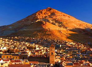 Ausblick auf Berg in Potosí, Bolivien