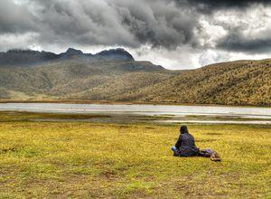 Lagune Limpiopungo im Cotopaxi Nationalpark, Ecuador