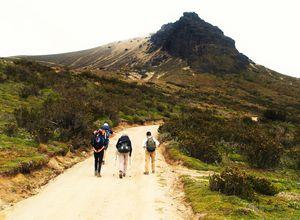 Wanderung auf dem Pichincha Vulkan, Ecuador