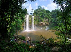 Wasserfall Misol-Ha in der Region Chiapas, Mexiko