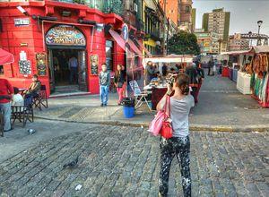 Straßenleben in Buenos Aires