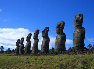 Chile Osterinsel ahu akivi moai