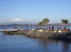 Chile Seengebiet Puerto Varas Steg