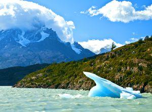 chile parque nacional torres del paine lago grey