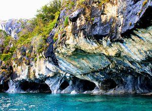 Chile Lago General Carrera Marmorkathedrale