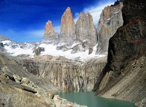 Chile Patagonien Torres del Paine Nationalpark Aussichtspunkt Base Julia