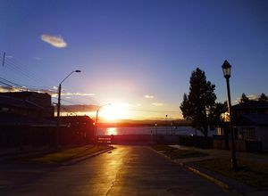 Chile Punta Arenas Sonnenuntergang
