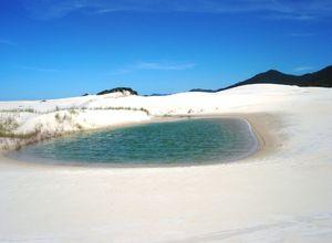 Brasilien Florianopolis Joaquina Düne