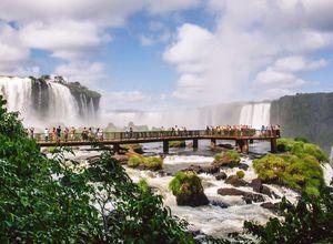Brasilien Iguazu Wasserfaelle