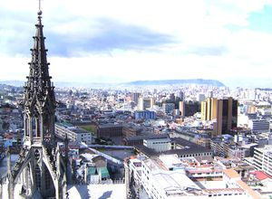 Ecuador Quito La Basilica Turm