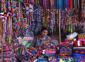 Guatemala Markt mit Frau