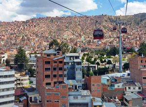 Bolivien La Paz Gondel