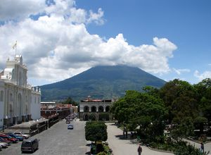 Guatemala Antigua Plaza Central