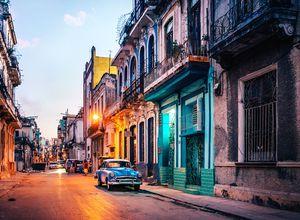 Kuba Havanna Strasse Oldtimer
