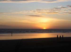 Panama Las Lajas Sonnenuntergang