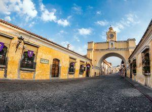 Guatemala Antigua Strasse