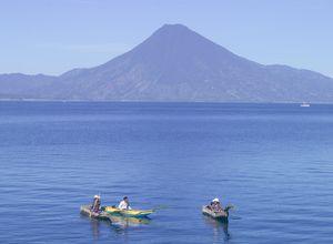 Guatemala Atitlán See Boote