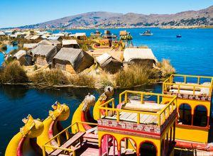 Peru Titicacasee Uros Boote