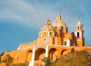 Mexiko Puebla Kirche