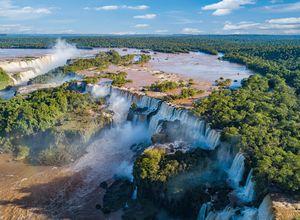 Argentinien Foz de Iguazu Wasserfälle Luftaufnahme