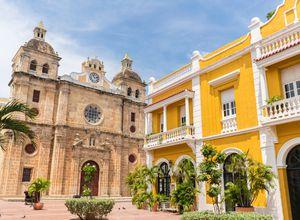Kolumbien Cartagena Marktplatz
