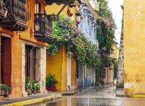 Kolumbien Cartagena Straße