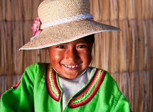 Bolivien Aymara Maedchen Kind