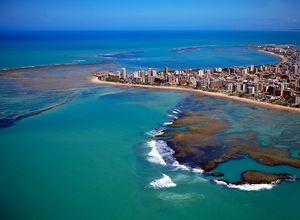 Brasilien Maceio Blick von oben